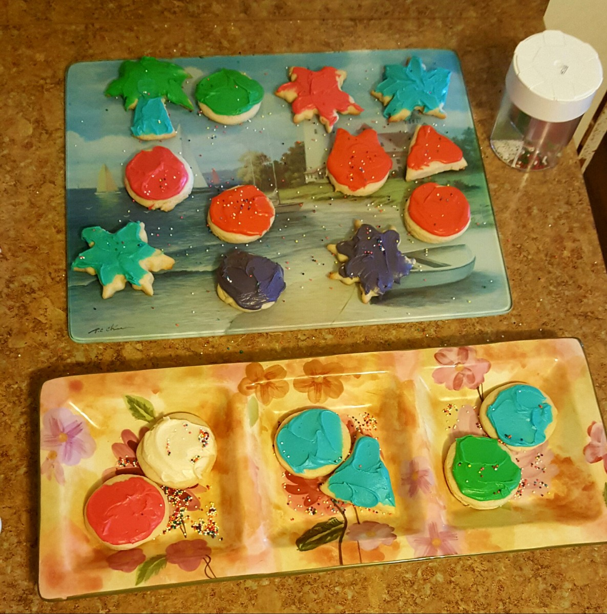 A variety of delicious sugar cookies.