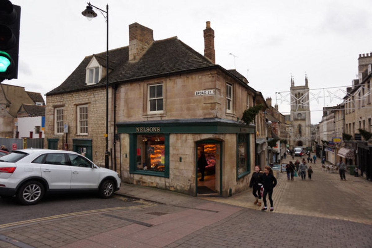 Nelson's butcher shop in Stamford, England.