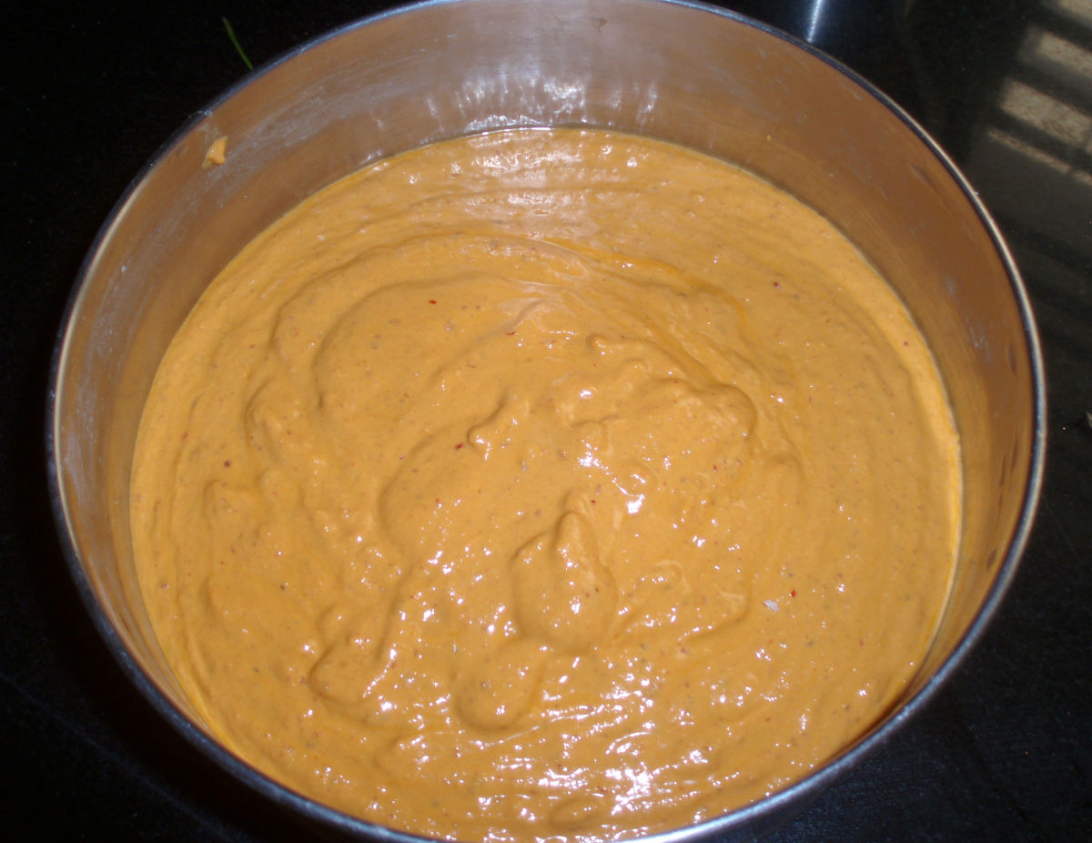 The completed batter.
