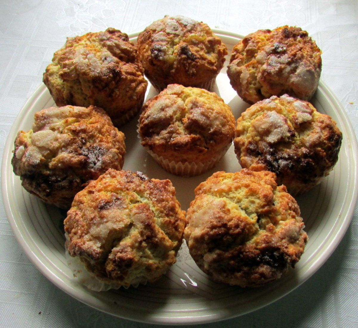 Plate of fluffy muffins