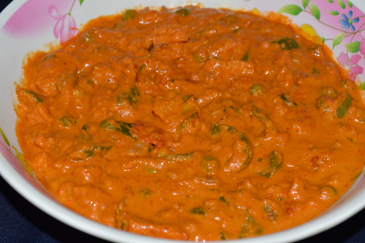 The completed baby corn vegetable kadhai.