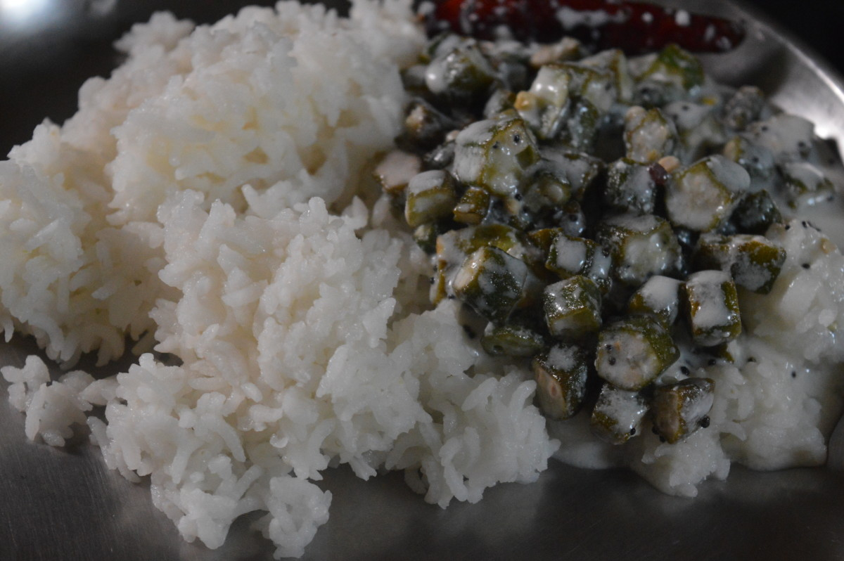Raita with boiled rice
