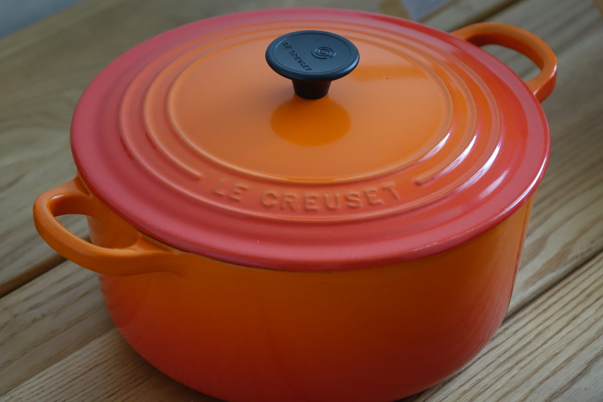 The iconic Le Creuset Dutch Oven in Flame