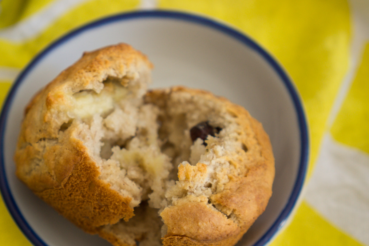 These muffins are fluffy and lightly sweet!