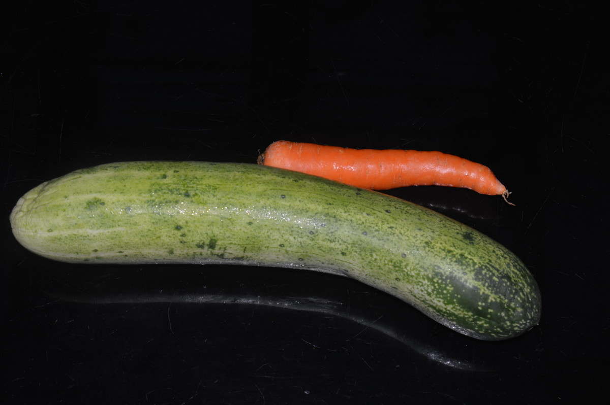 Cucumber and carrot
