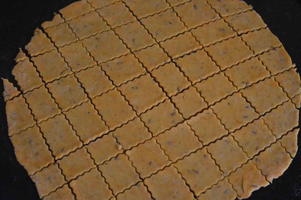 pancake cut in diamond shapes
