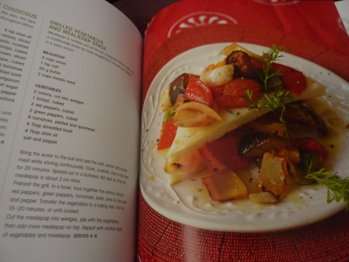 Lovely mealiepap slices with gorgeous roast vegetables! This cookbook inspired me to try mealiepap for the first time.