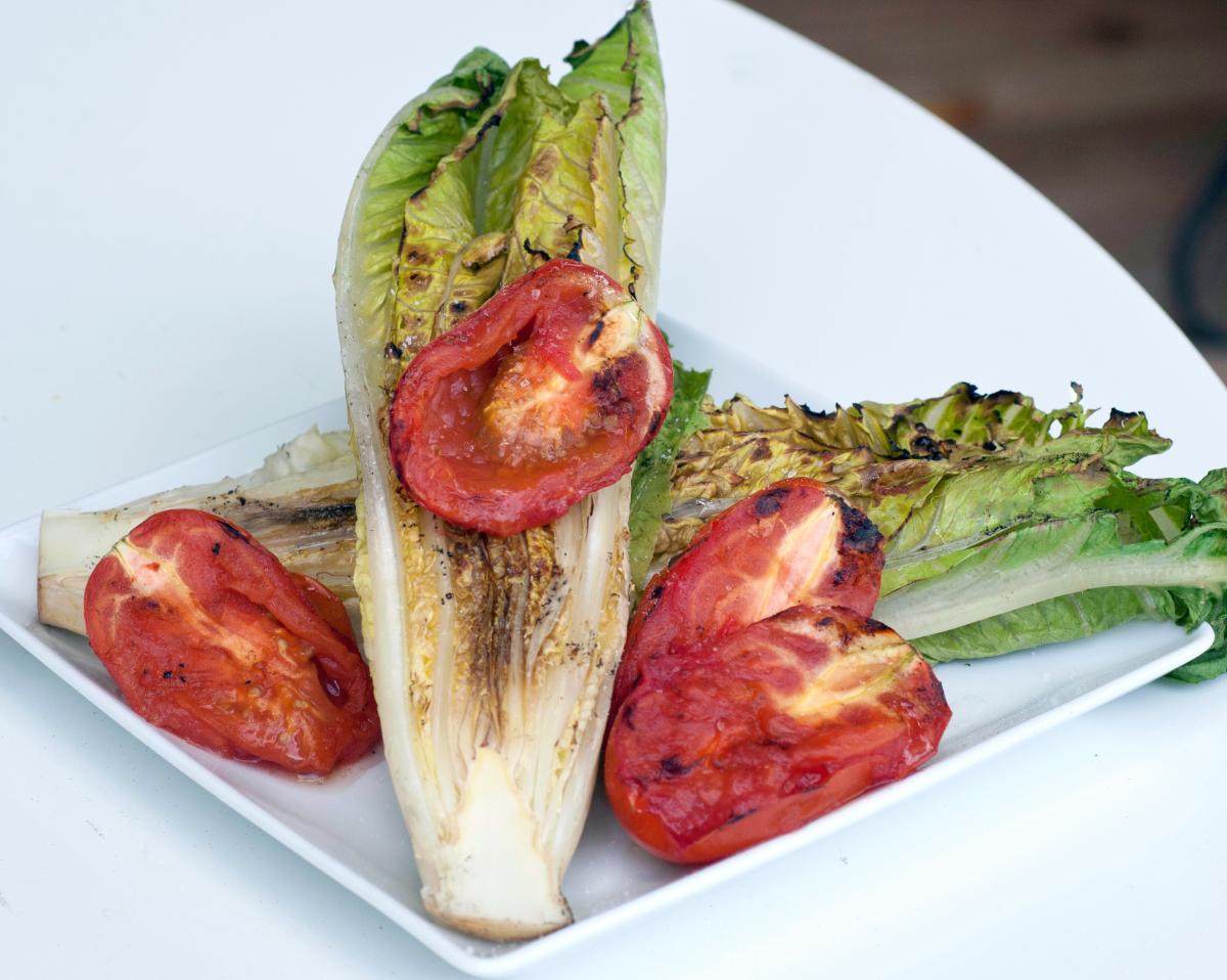 How to cook Romaine lettuce on the grill.