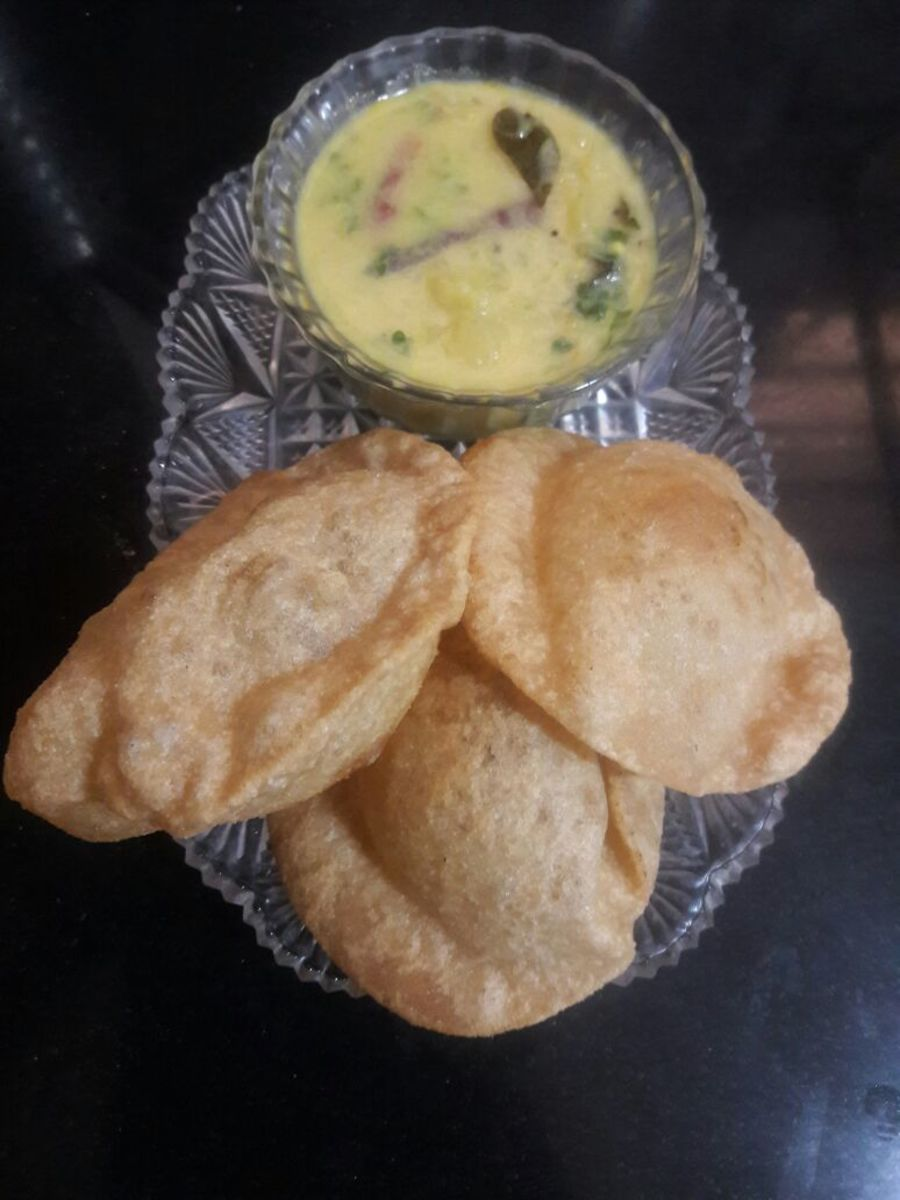 Puri and Potato Curry