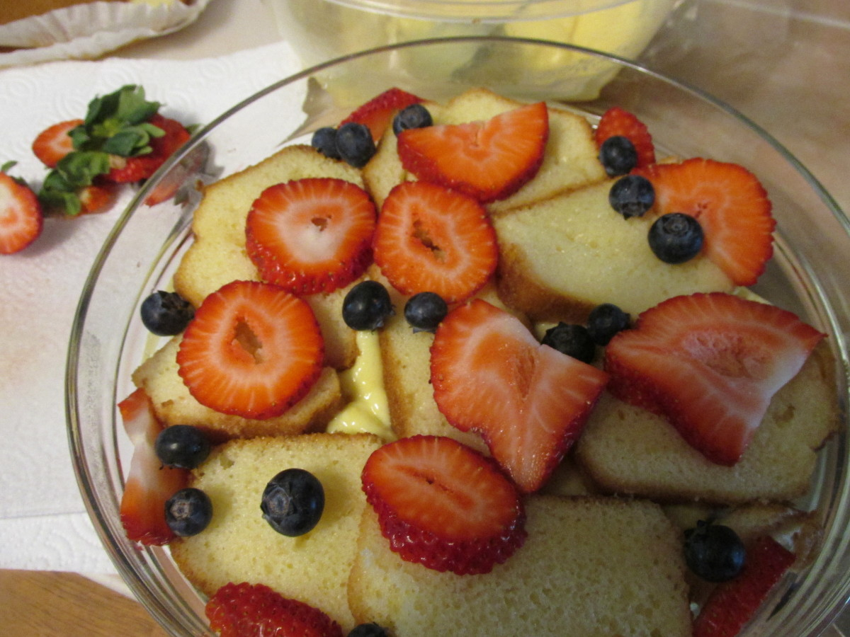 Top layer with both berries