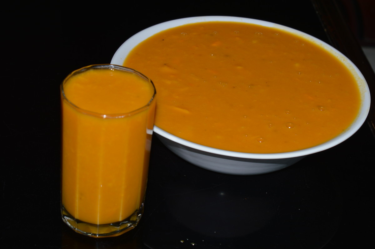 Step five: Mango rasayana is ready to drink. Serve it cold, pouring into a glass