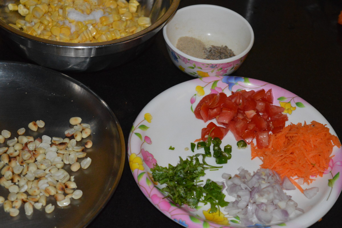 Step two: Keep ready them, and start making the chaat.