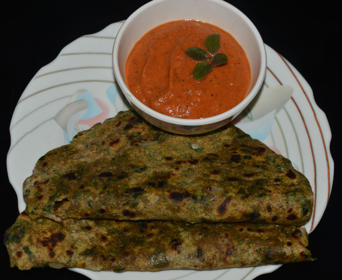Serve it as a side dish with pancakes, snacks, pakoras, fritters, parotas, rotis, or chapatis. Enjoy eating the silky and herbal flavored dip!