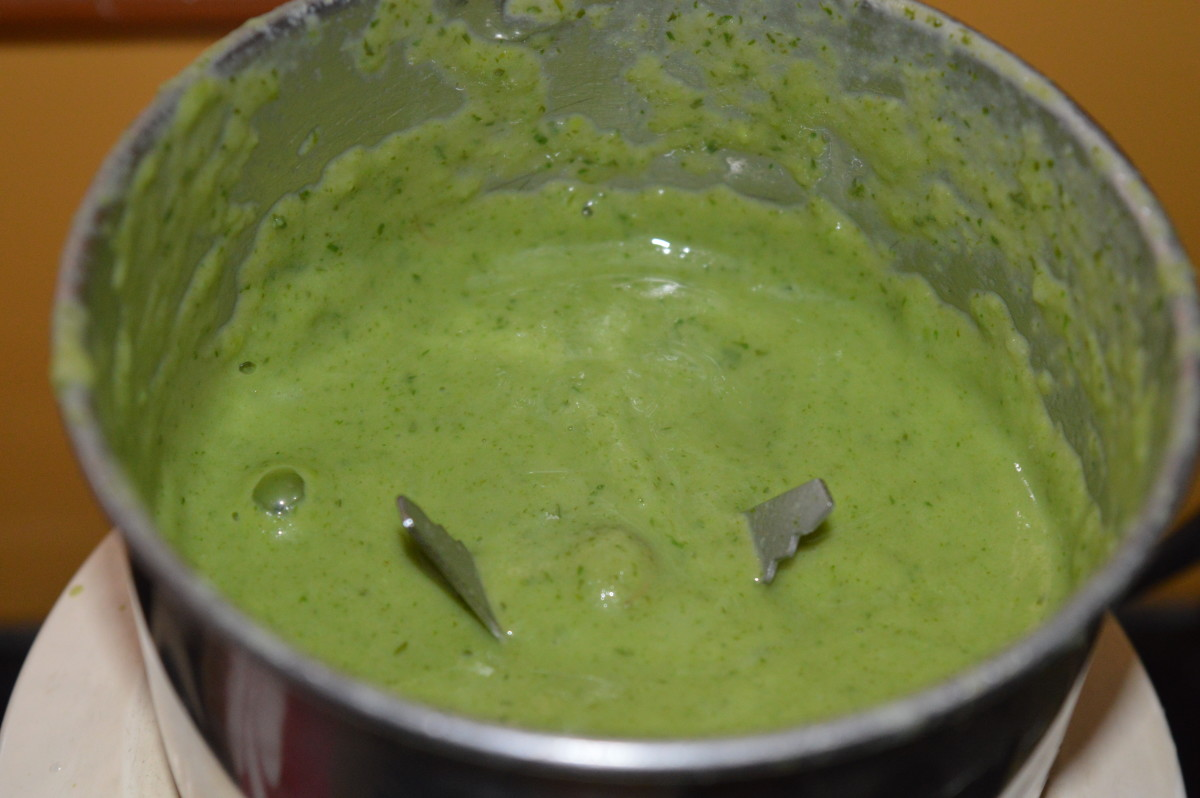 Step five: Once cold, grind the mix to get a smooth puree.