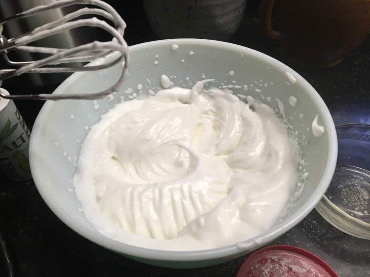 Finished meringue.