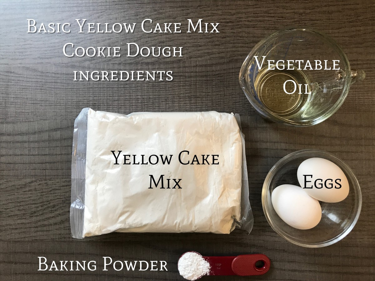 Basic ingredients for the cookie dough.