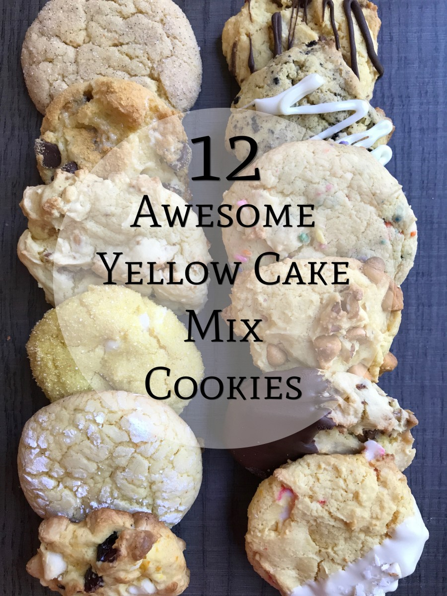12 Awesome Yellow Cake Mix Cookies