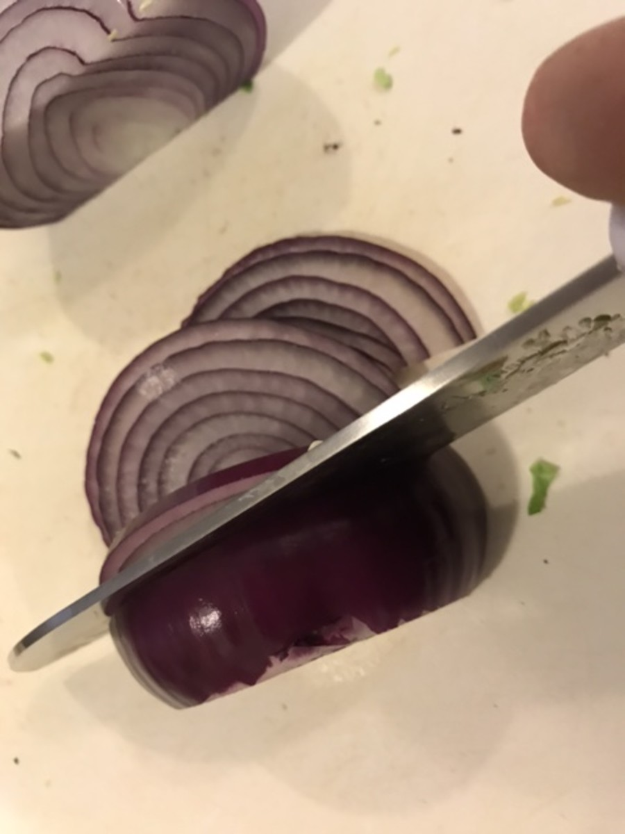 You can use white onion if you like, but I love the flavor of red onions, and in the finished dish, the color is really beautiful against the green Brussels sprouts.