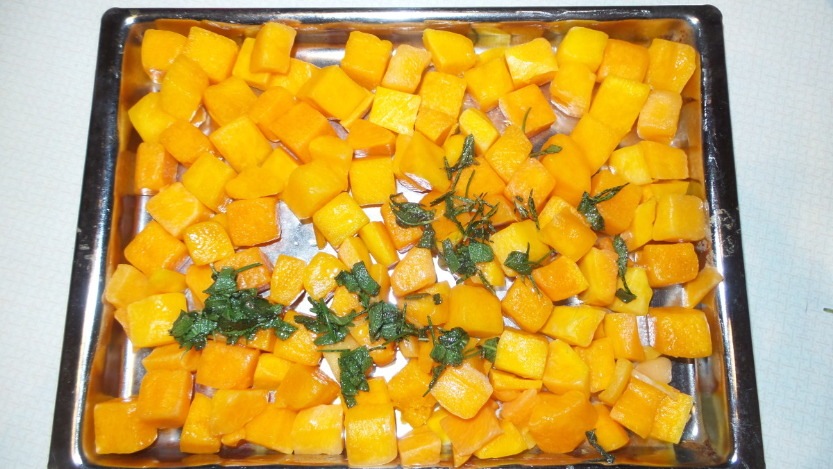 Pour butter and herb mixture over the squash and stir until evenly coated.