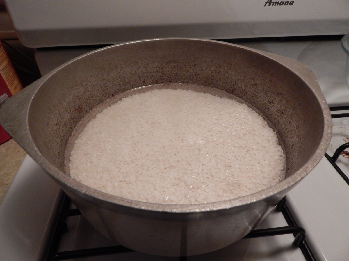 Soaking Rice