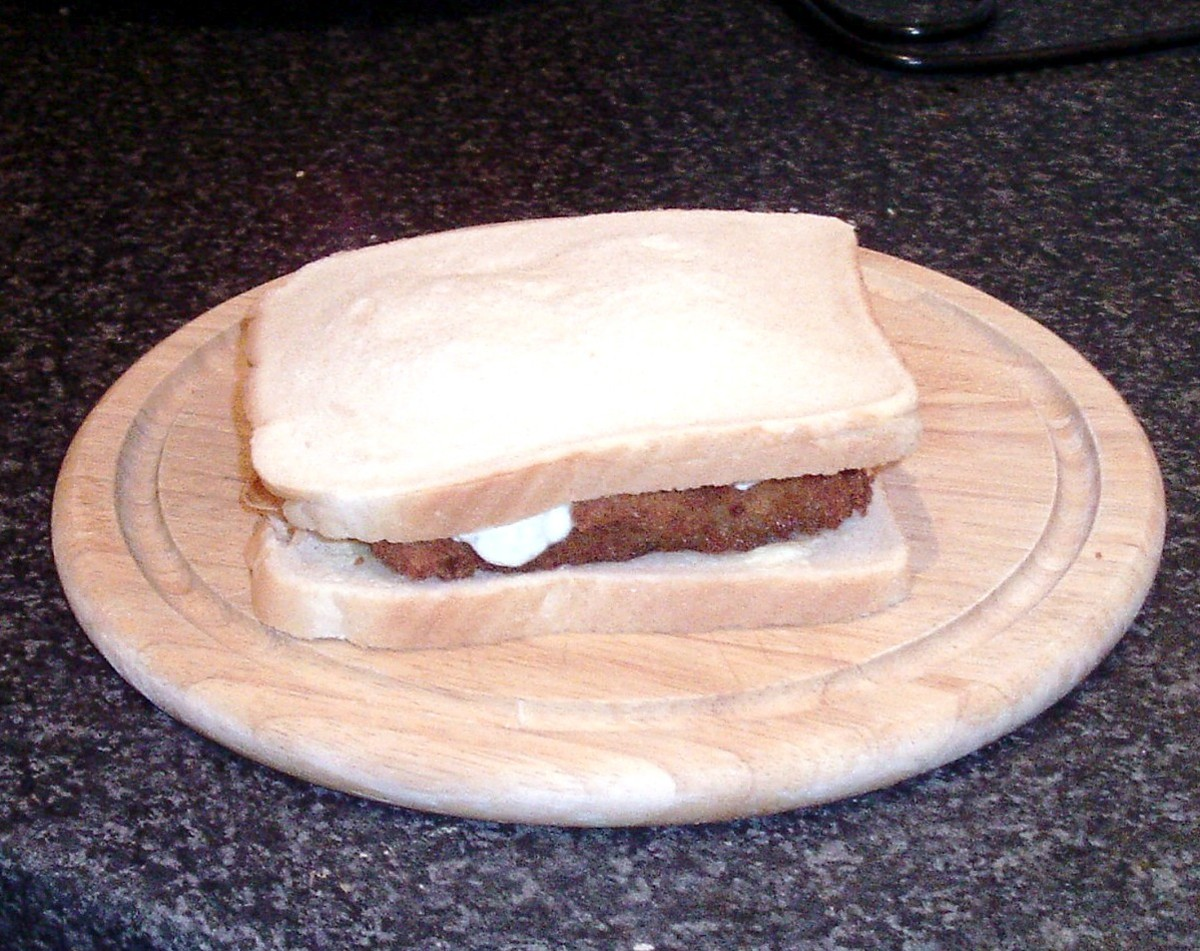 Second slice of bread tops sandwich