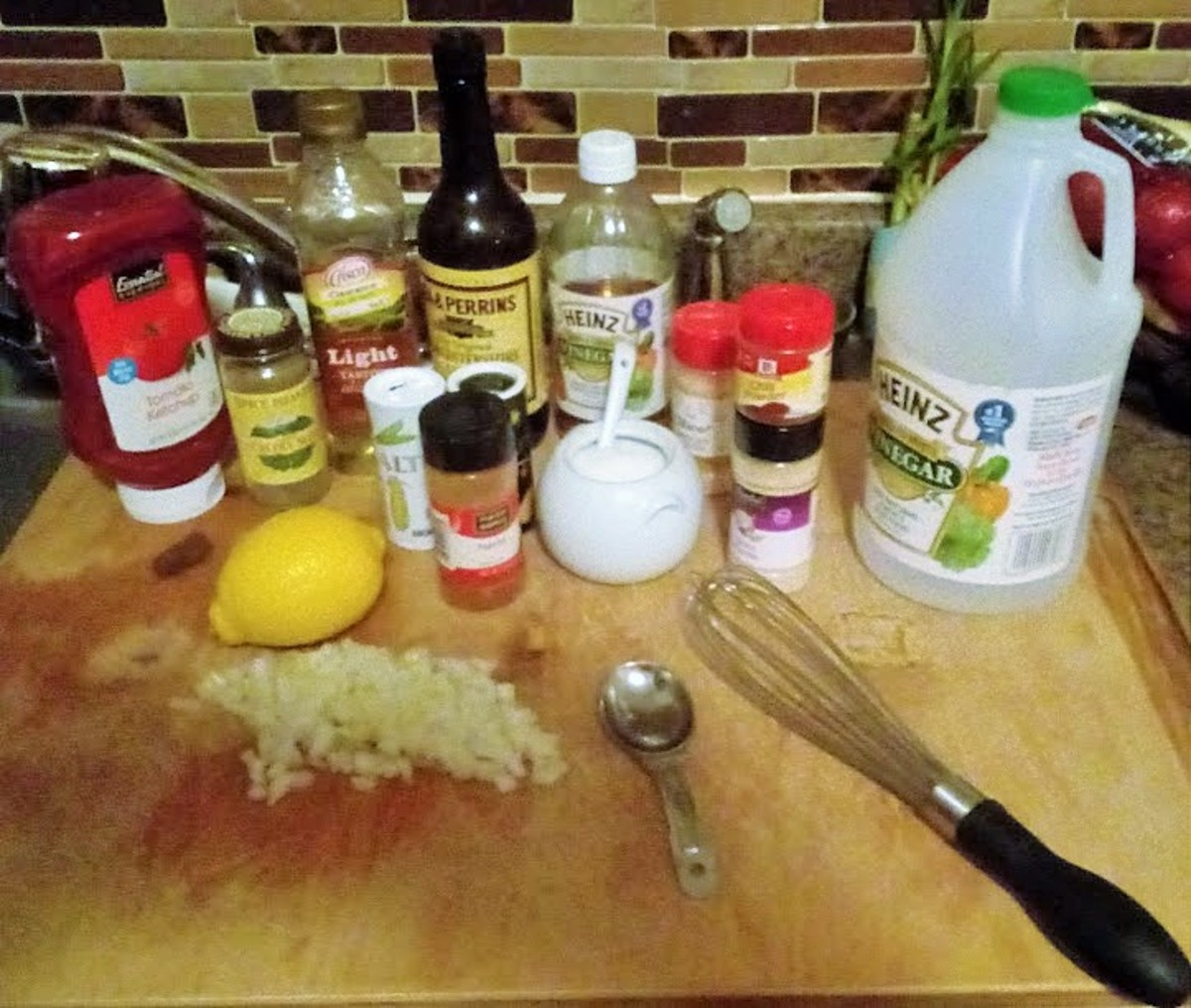 Ingredients for Homemade French Dressing