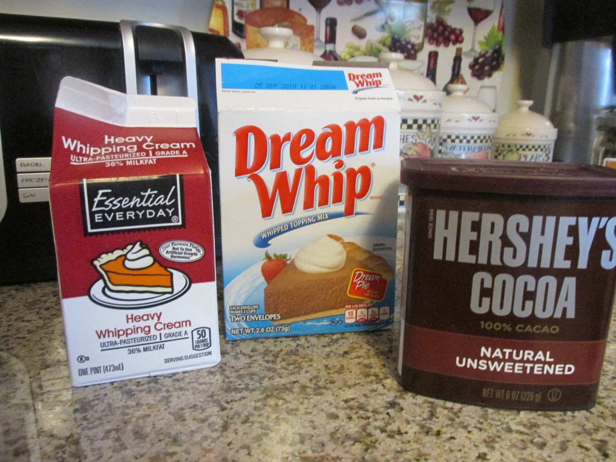 Here are some of the ingredients for this delicious German chocolate cake.
