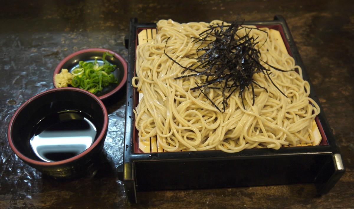 Zaru Soba, a type of Japanese Soba