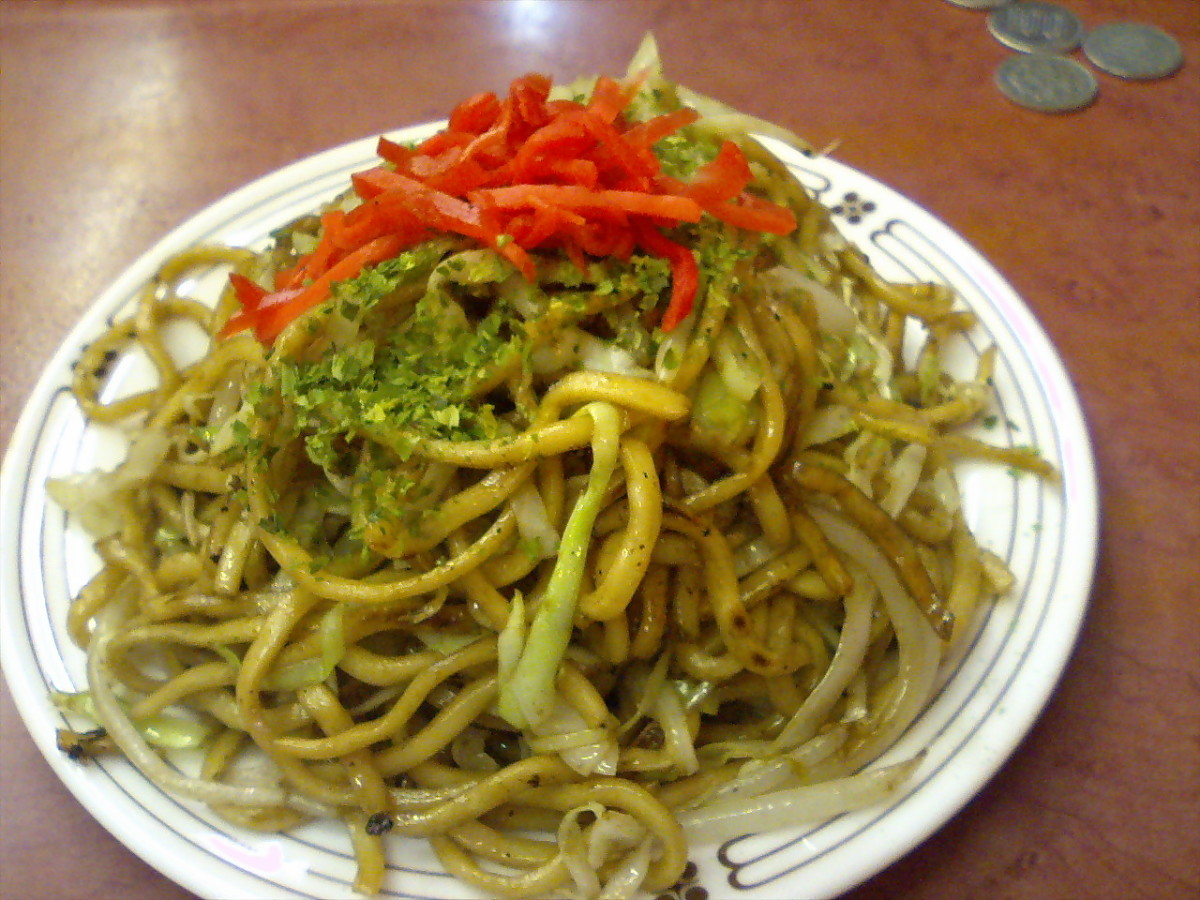 Yakisoba food stalls are a fixture during festivals