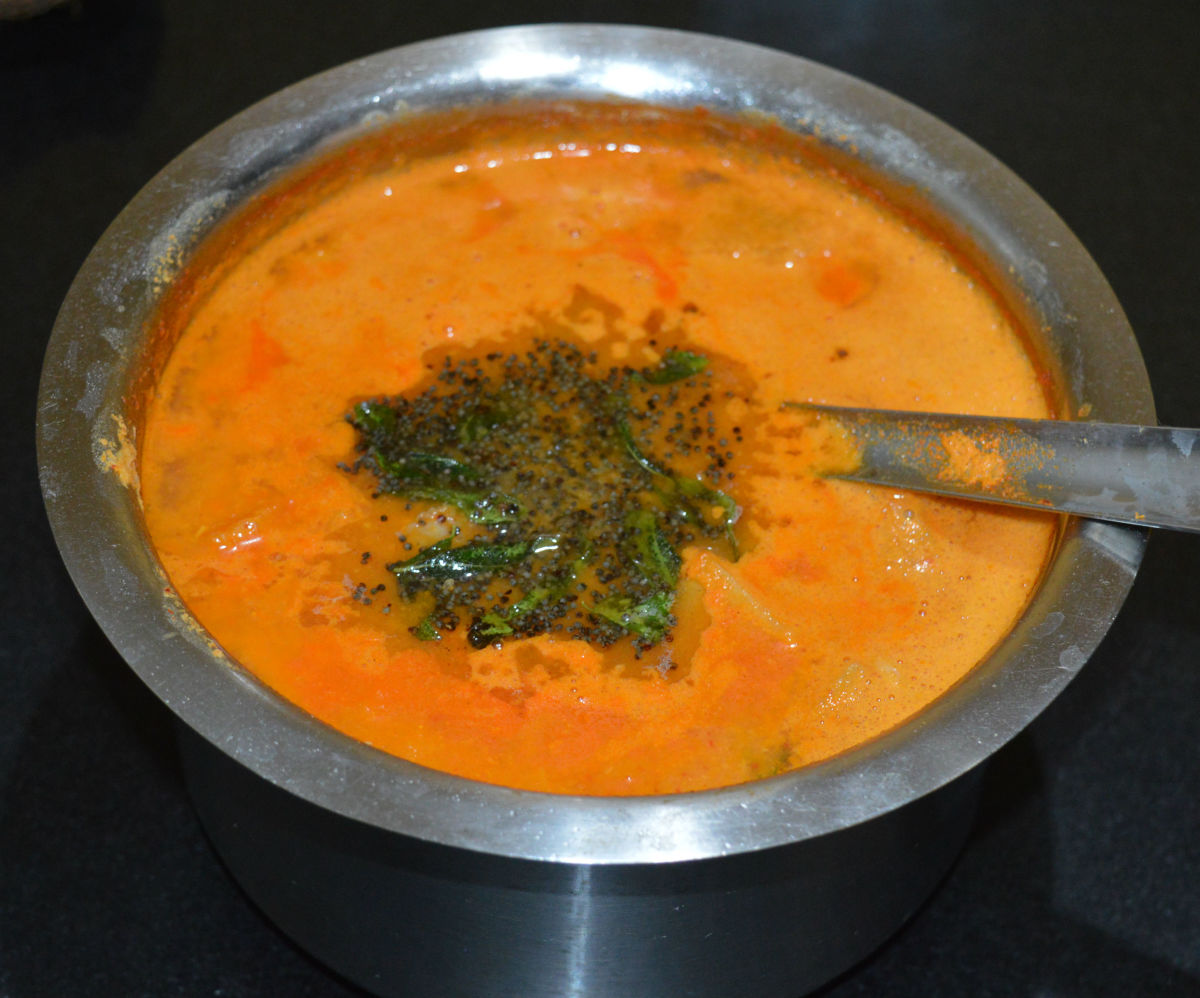 Tender jackfruit sambar (curry)
