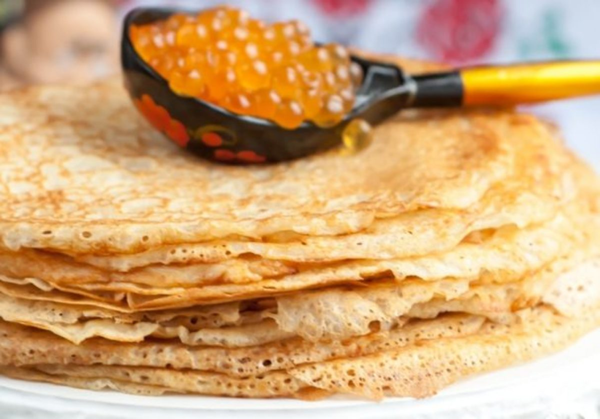 Caviar is a very popular pancake topping in Russia.