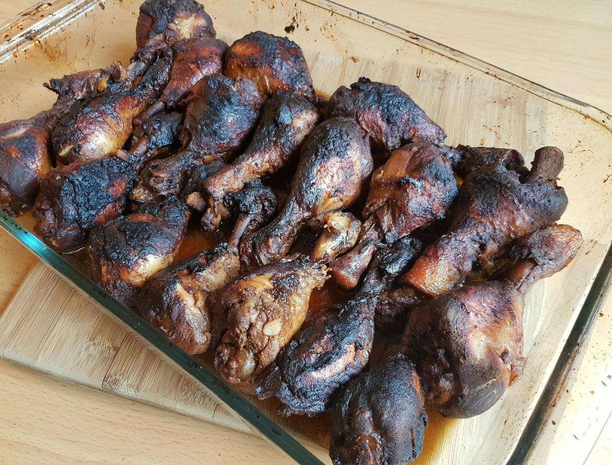 Slow cooker jerk chicken recipe