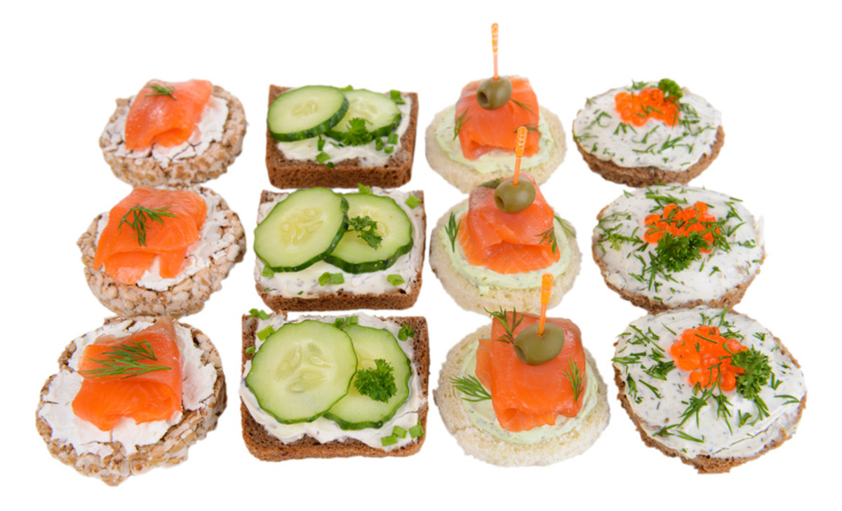 a variety of tea sandwiches