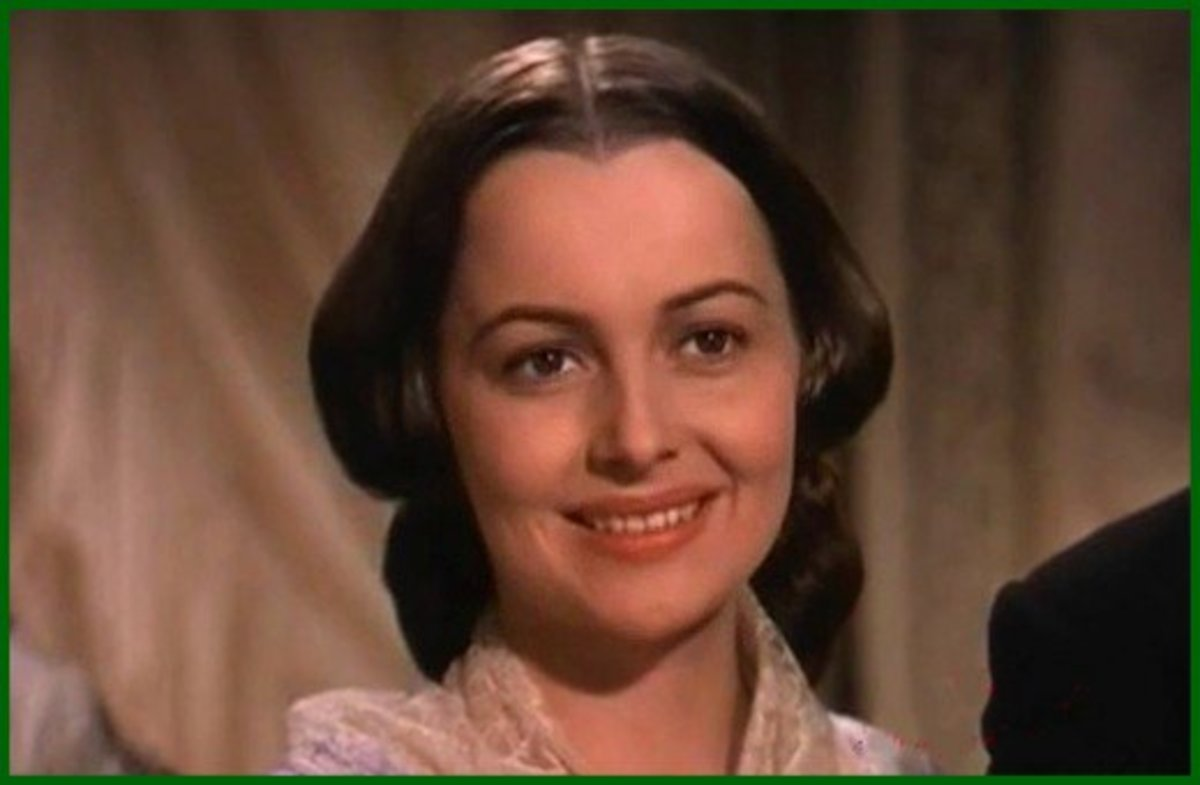 Olivia de Havilland played Melanie, one of the four principal stars in Gone With the Wind.