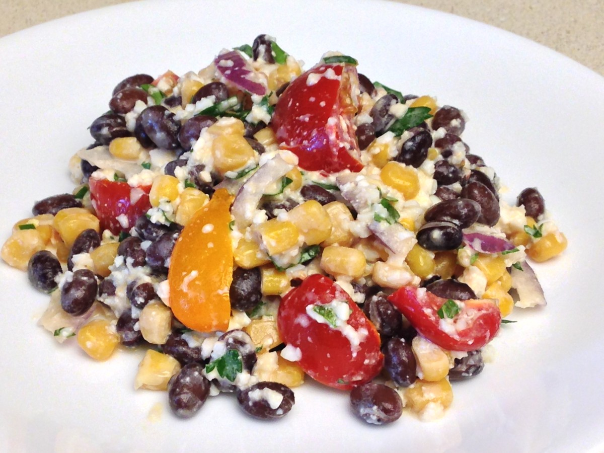 This Black Bean & Corn salad is very satisfying and filling