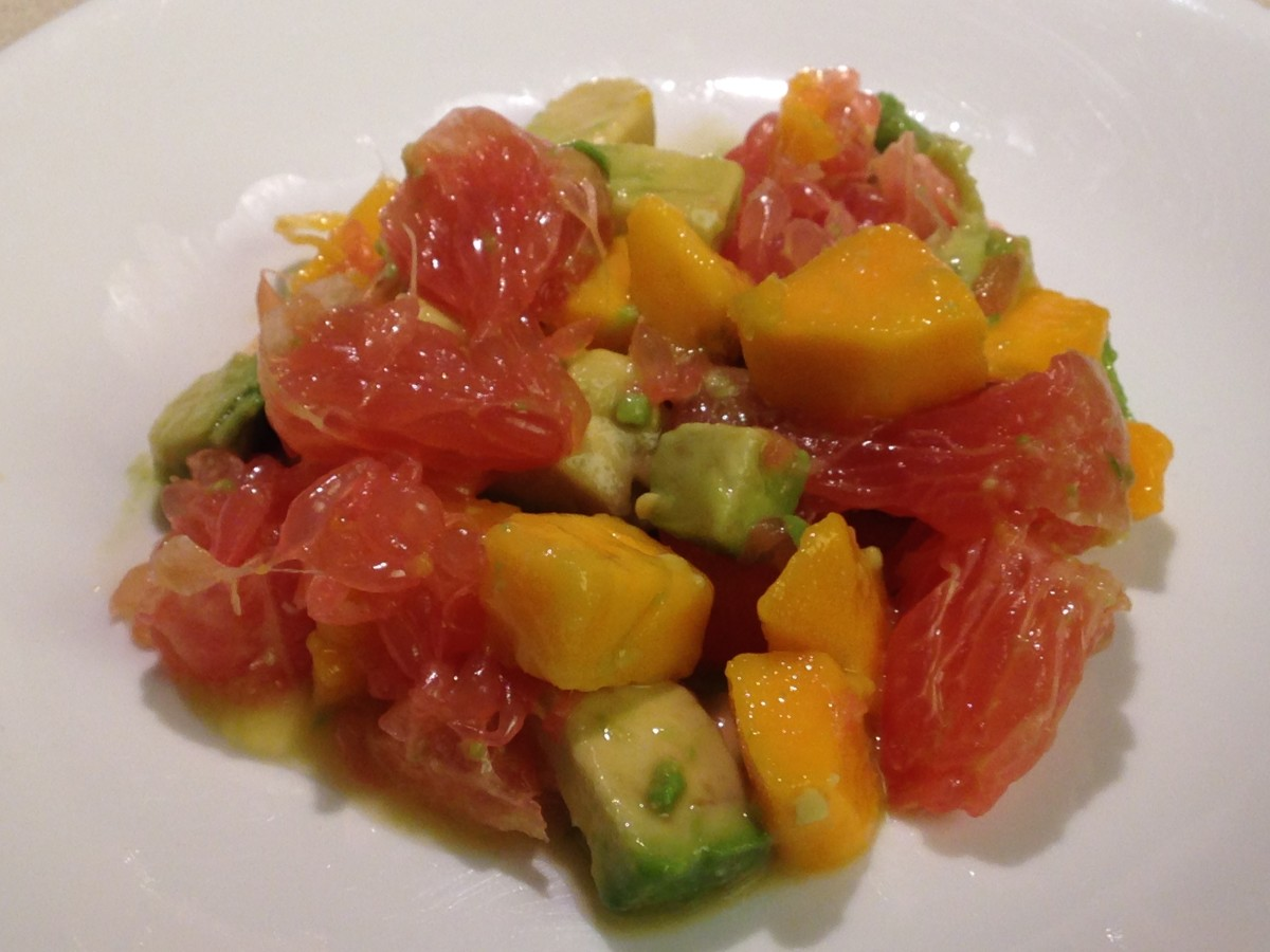 Grapefruit, Mango, and Avocado Salad, aka Three Amigos