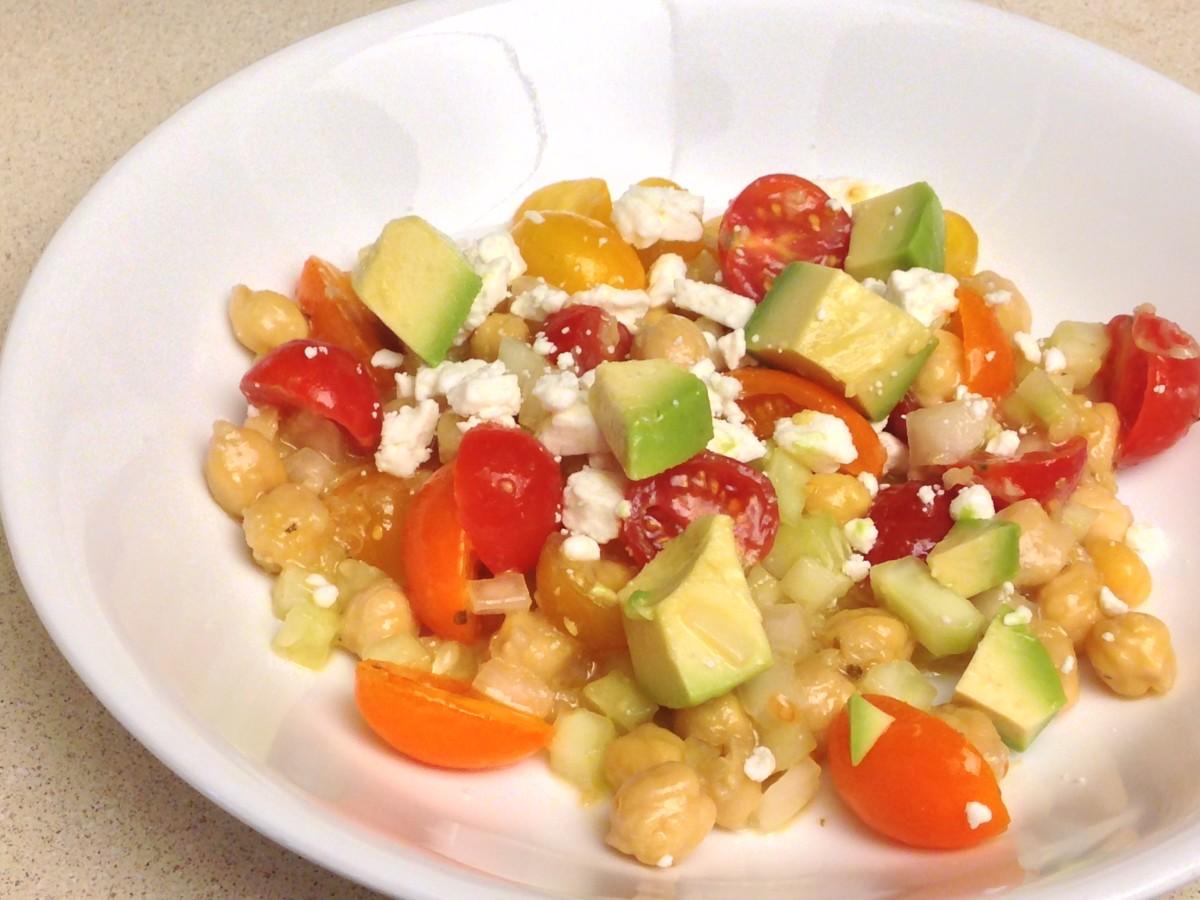 Chickpea, Tomato, and Avocado Salad