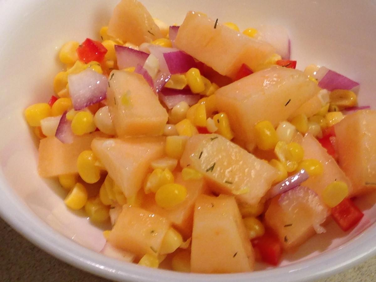 Cantaloupe Corn Salad
