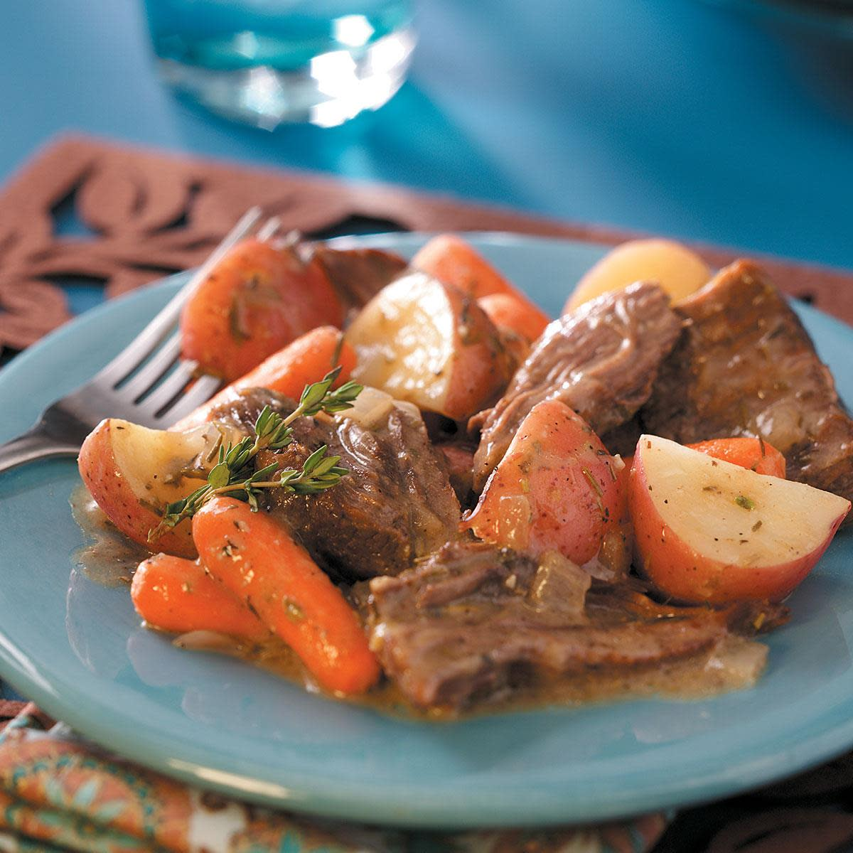 An impressive pot roast dinner.
