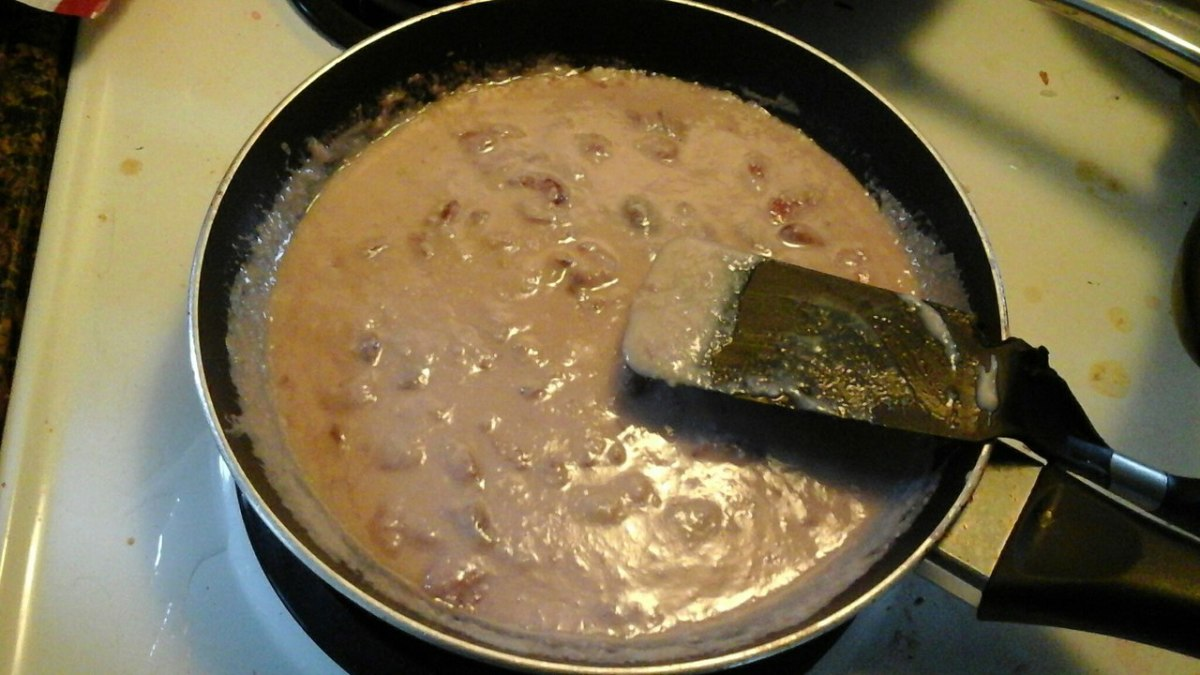 Stir constantly to prevent the condensed milk from getting burnt.