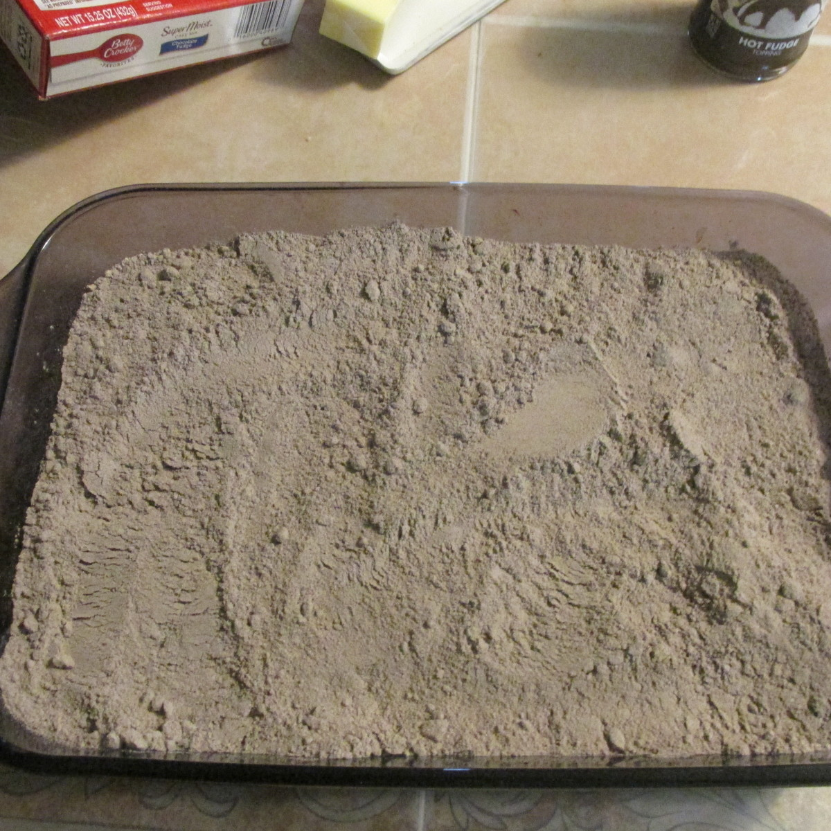 2nd layer, the cake mix