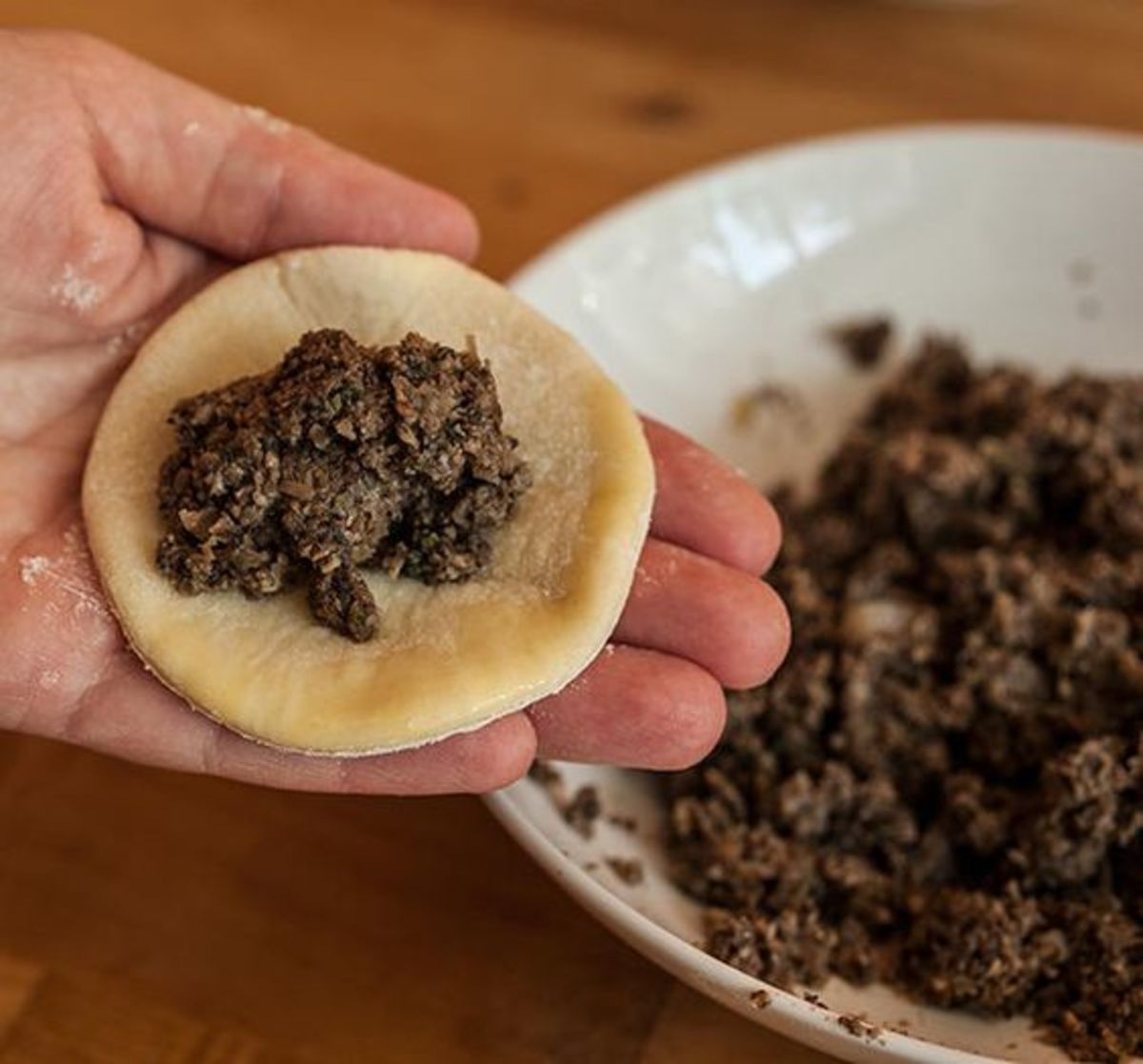 Mushrooms are a good filling for vegetarian pierogi.