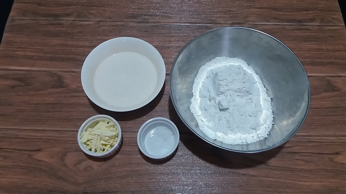 four ingredients for cooking no yeast flatbread