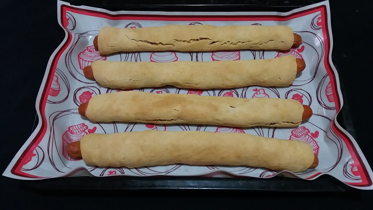 Freshly Bake Cheesy Footlong Pigs in a Blanket