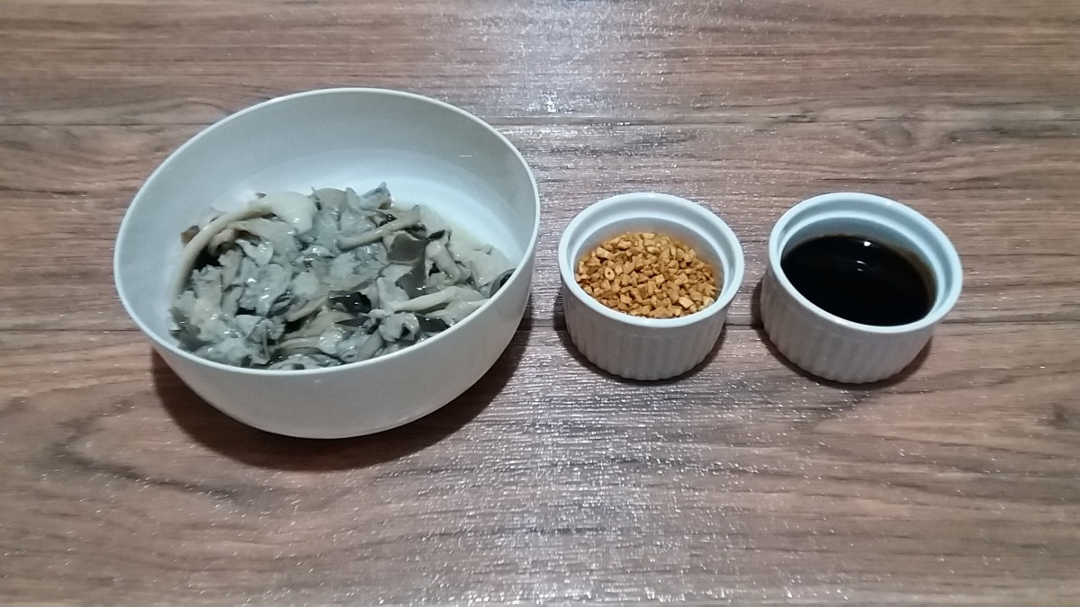 Wild Mushrooms, Homemade Garlic Bits and Oyster Sauce