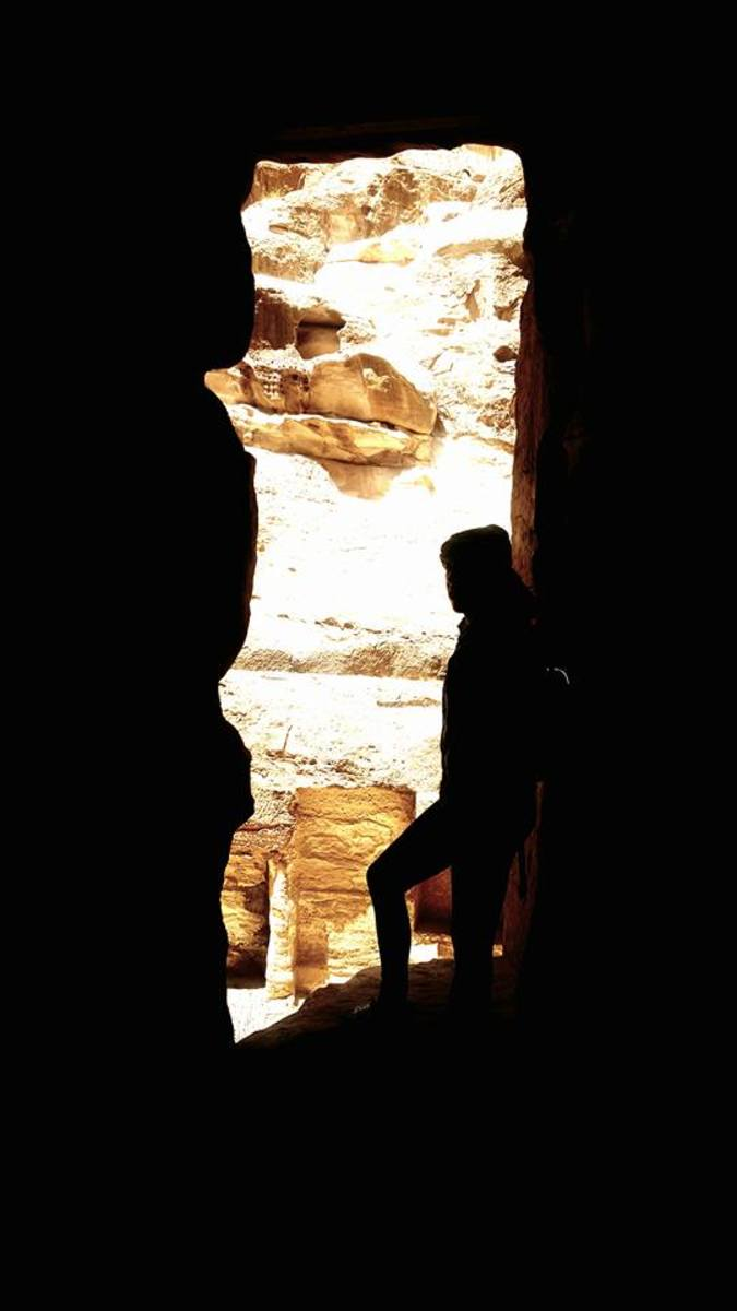 Silhouette at Petra.