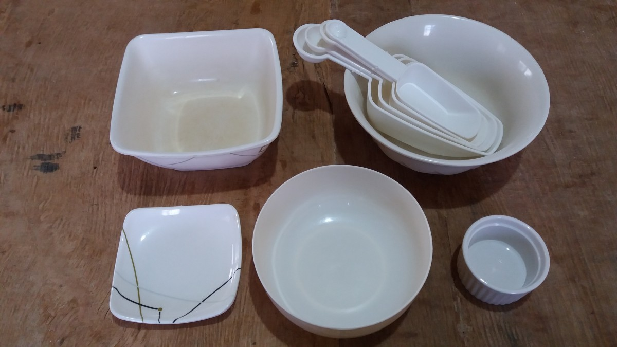 utensils for preparing a chicken dish