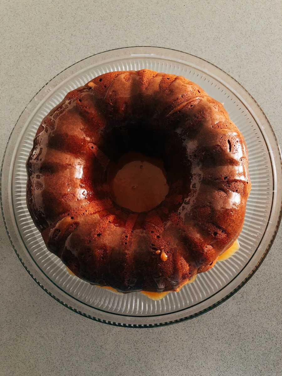 Beautiful bundt cake.