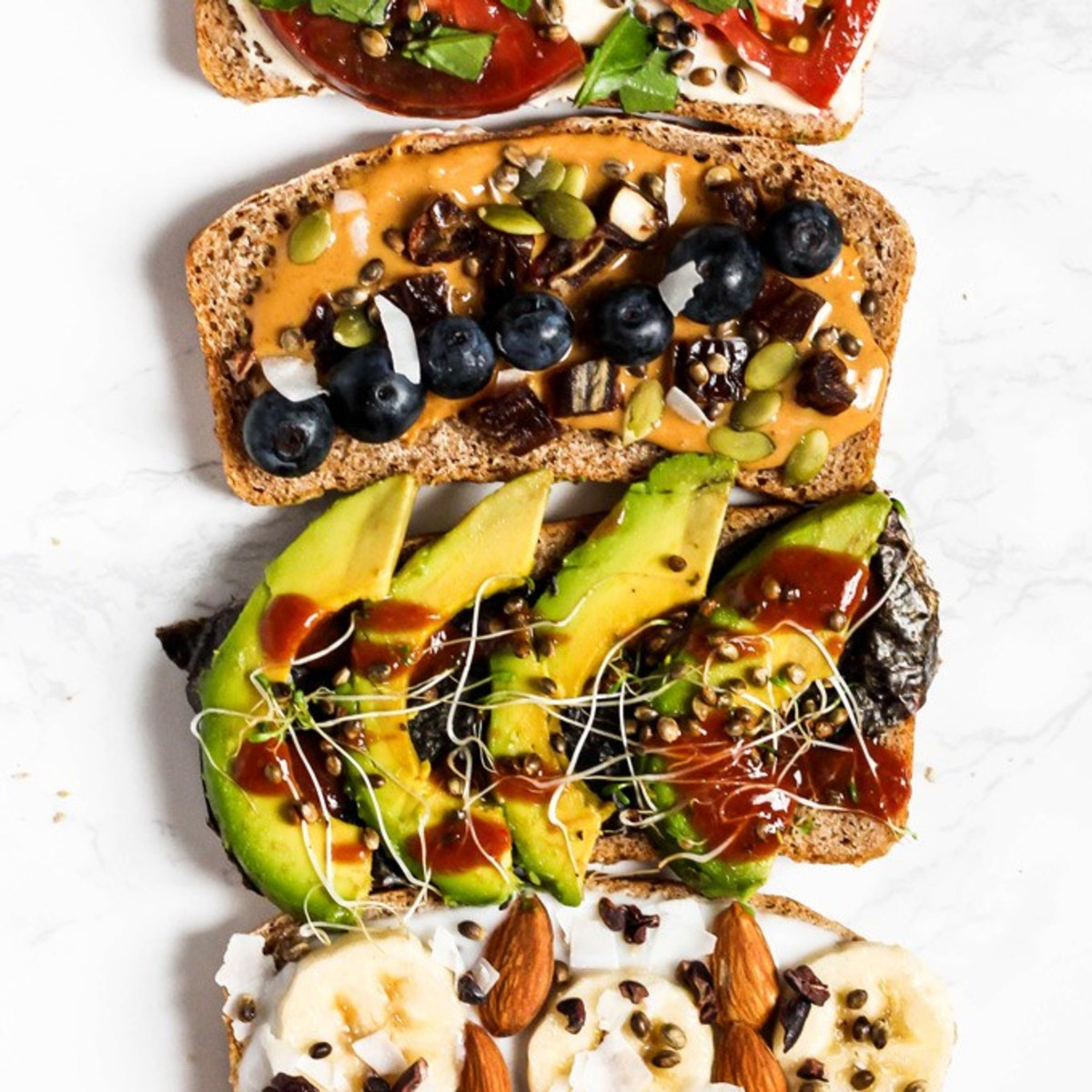 Vegan breakfast toast.