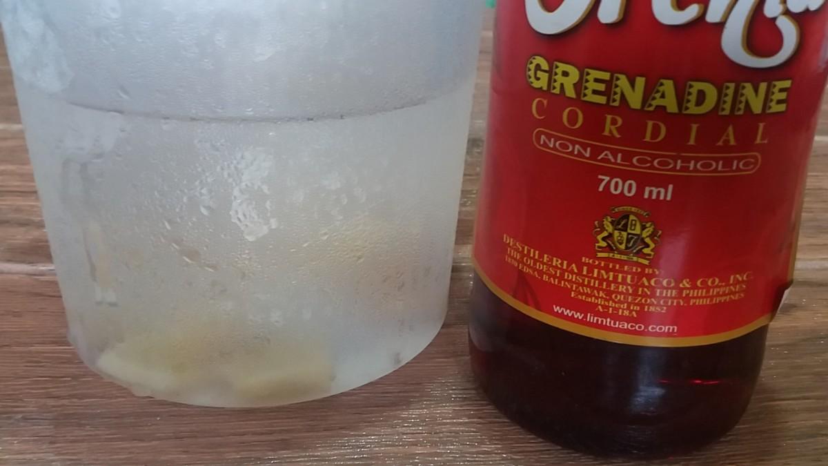 ingredients in making grenadine ginger tea